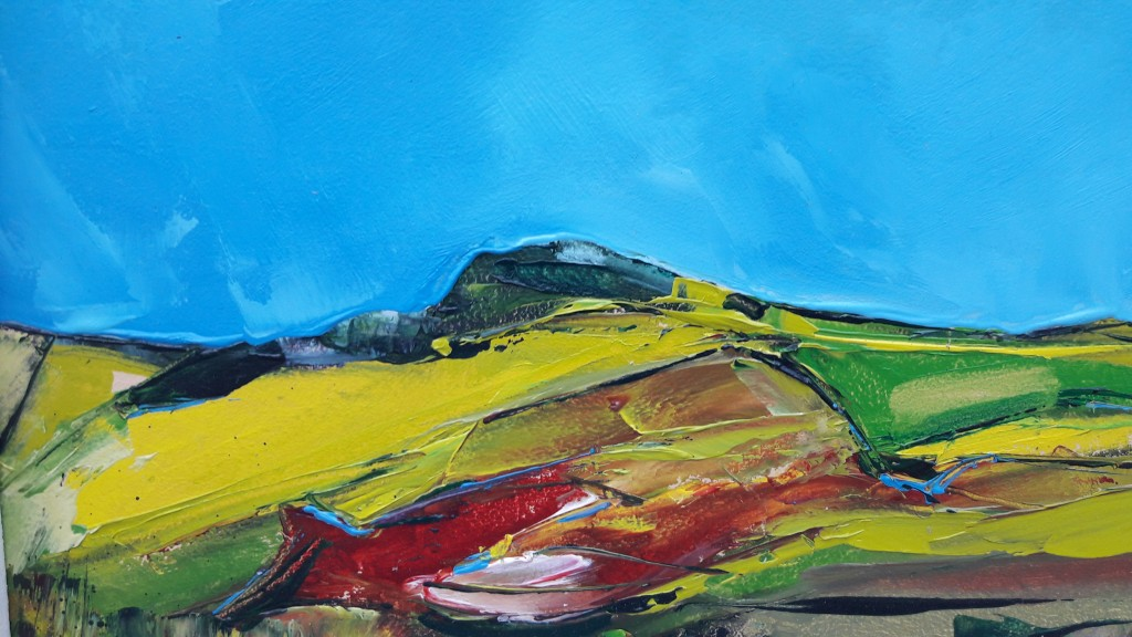 Michael Hemming Blue Skies Over Martin Down Oil 2