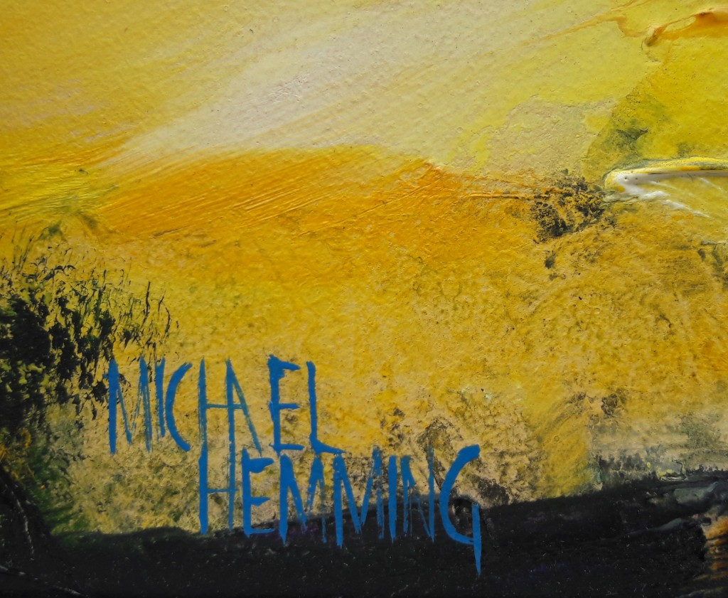 Sky-Blaze-Michael-Hemming-Artist-Oil-Painting-Sig