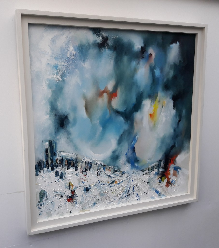 Churchyard-Snowstorm-Michael-Hemming-Oil-L