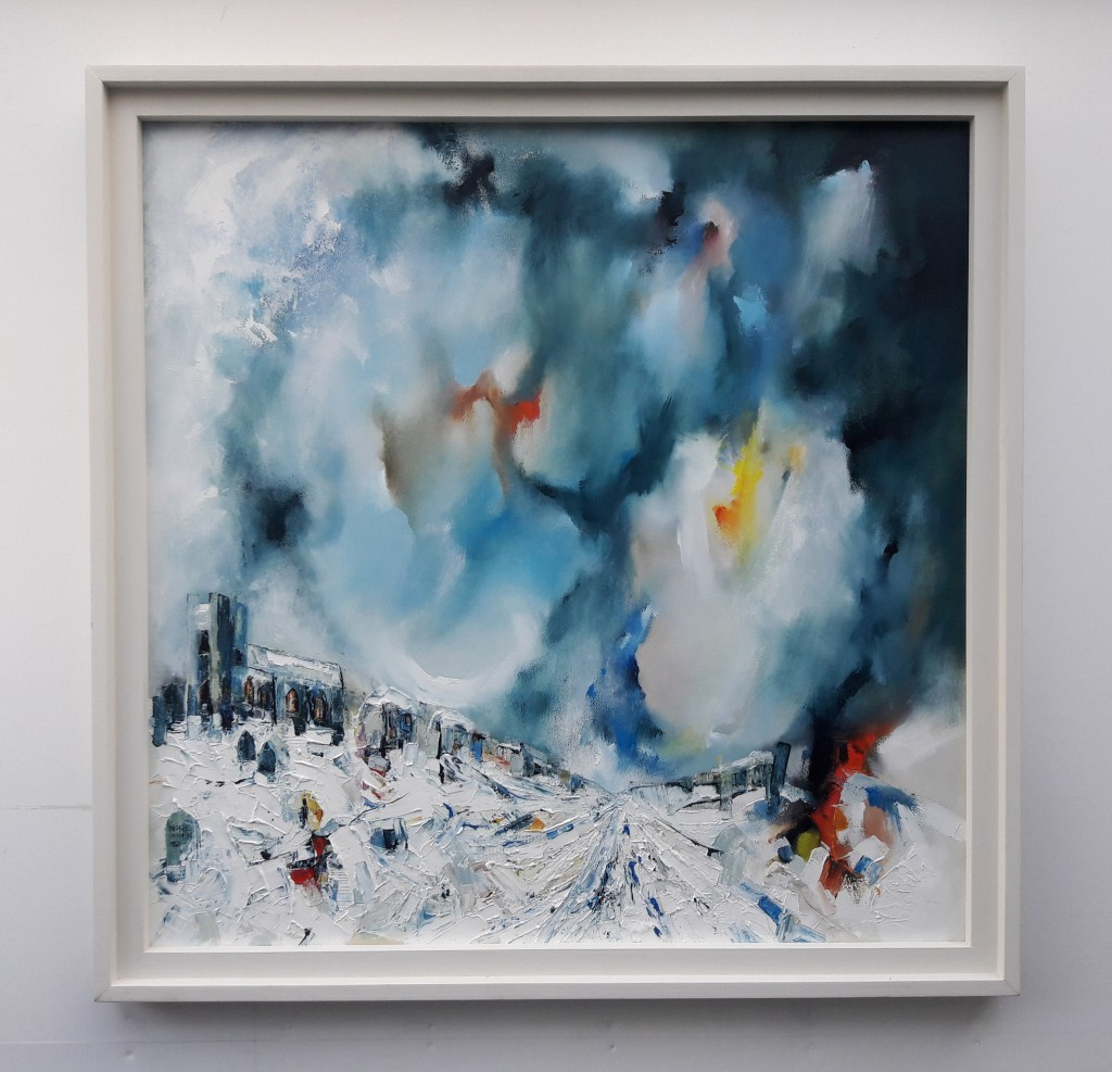 Churchyard-Snowstorm-Michael-Hemming-Oil-Painting-