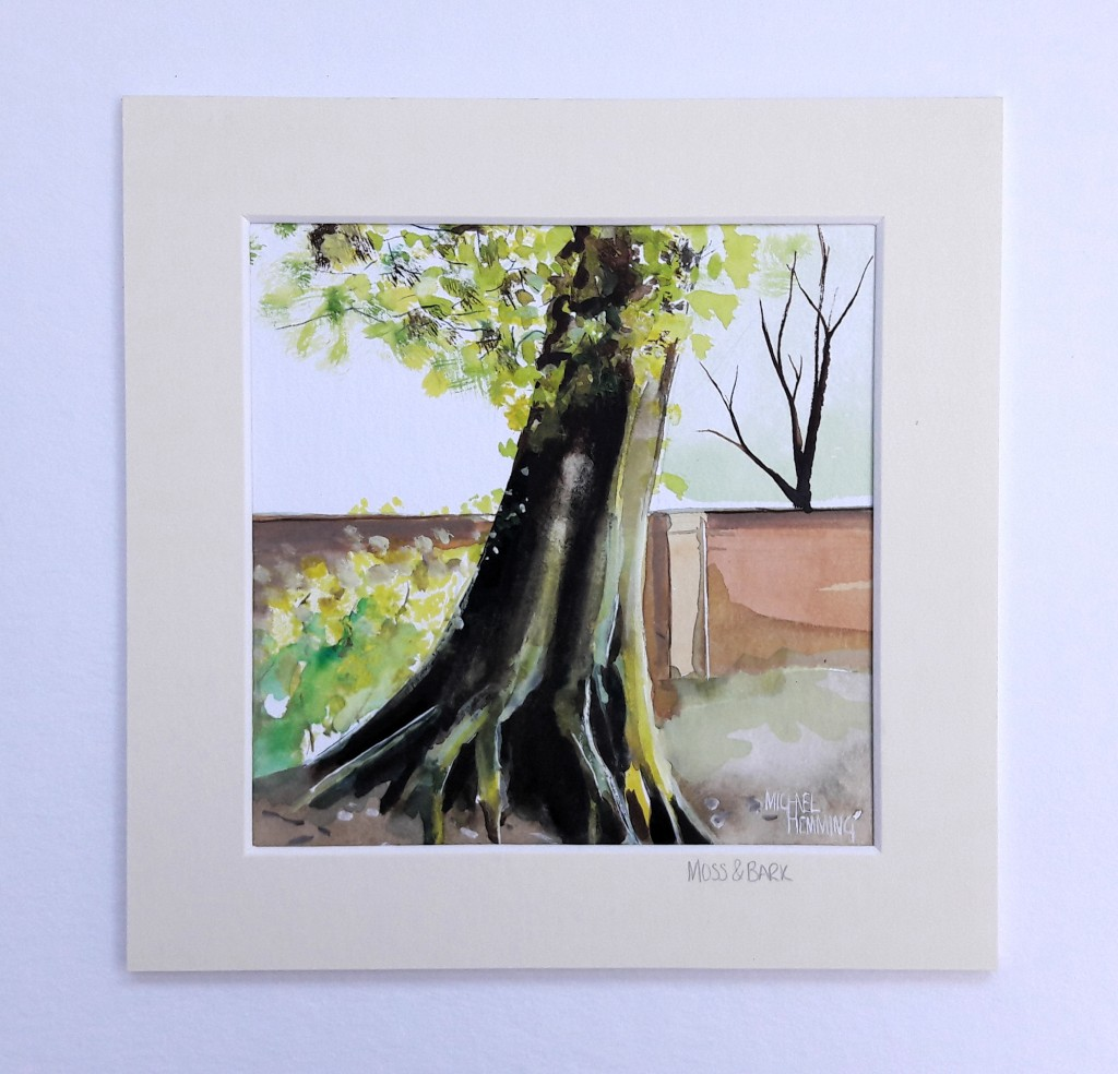 Moss-Bark-Michael-Hemming-Scape-Artist-Watercolour
