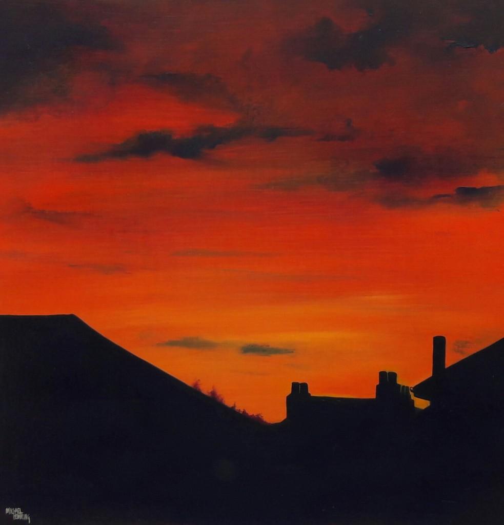Rooftop-Sunset-Michael-Hemming-Scape-Artist-Dorset